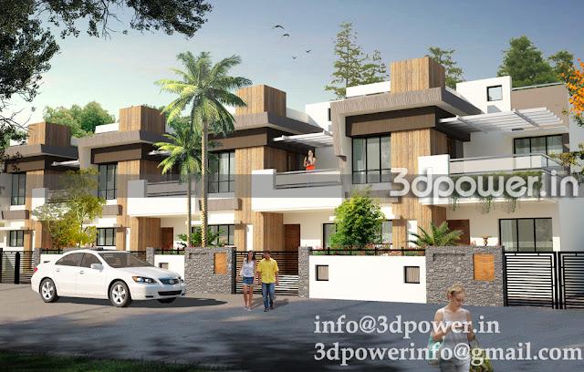 3D Exterior Of Apartment