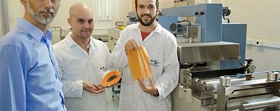 Plástico comestível criado pela Embrapa - Pesquisadores