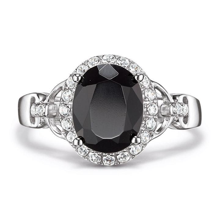 Sterling Silver Genuine Black Onyx Ring $64.99