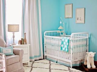 dormitorio gris turquesa