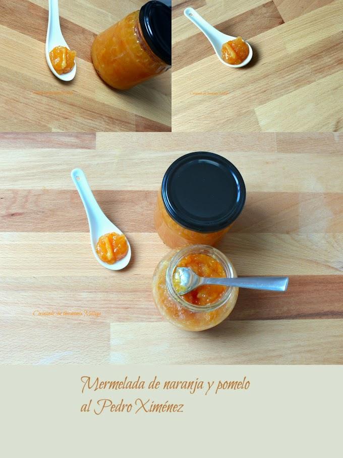 Mermelada de naranja y pomelo al Pedro Ximénez
