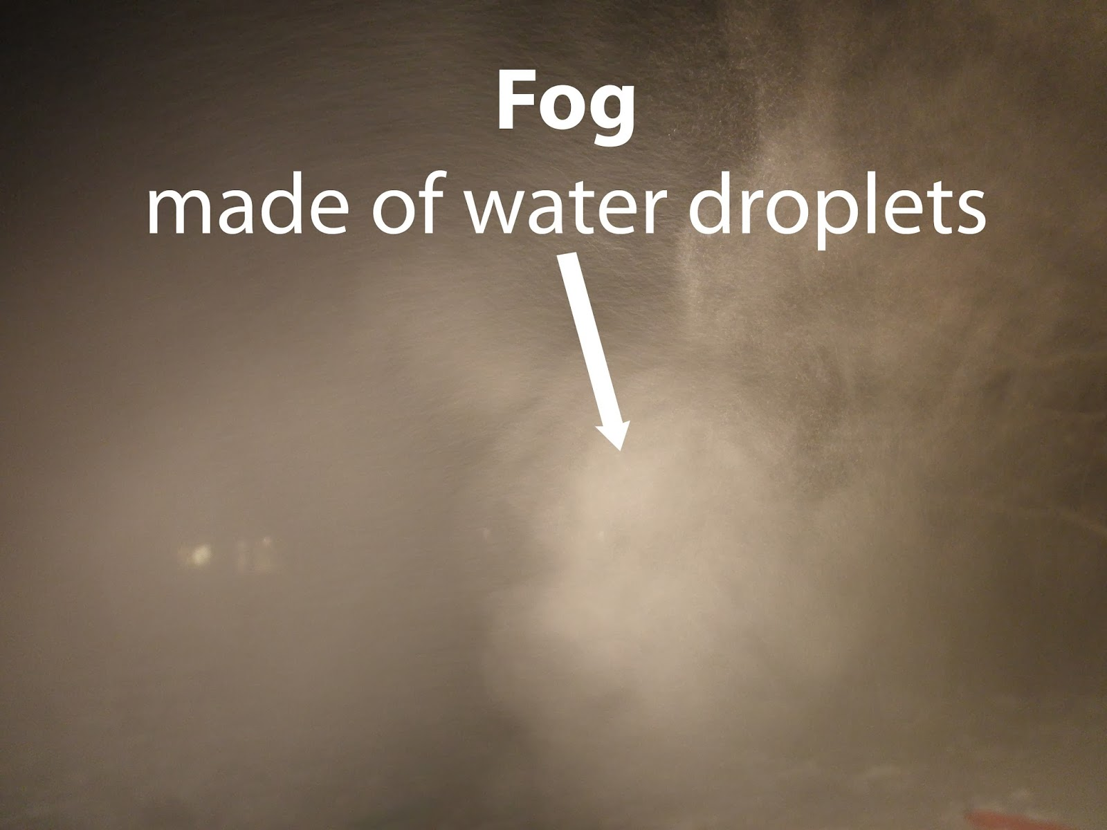 how fog is made