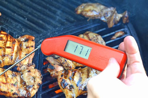 Thermapen, grilled chicken, grilling