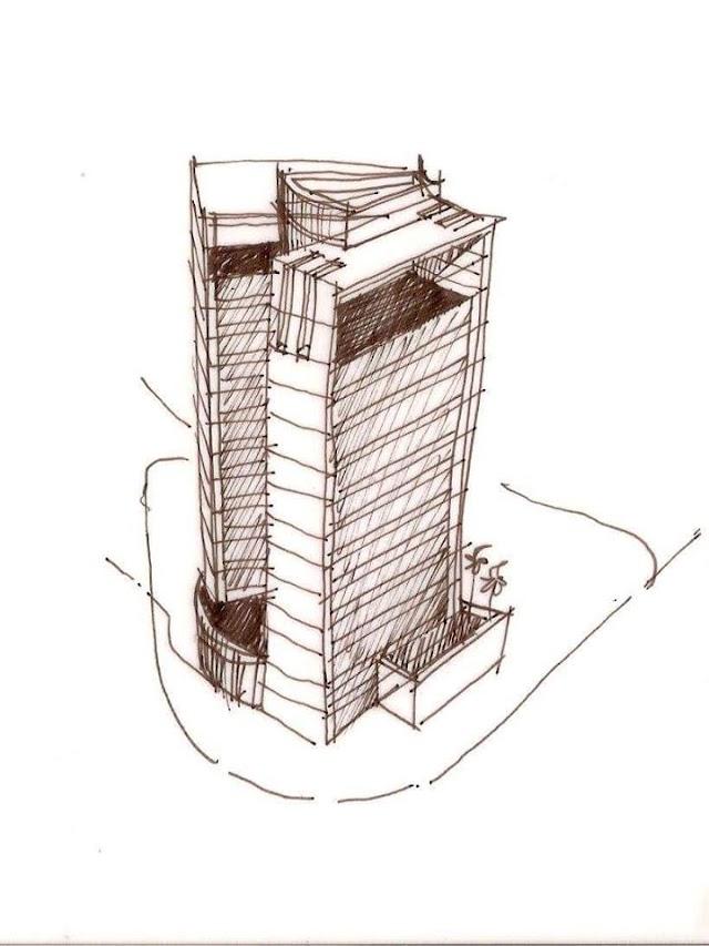 Vẽ phác thảo tìm ý tưởng công trình