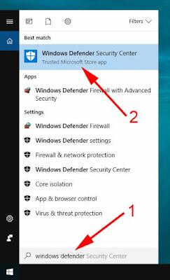 cara mematikan windows defender windows