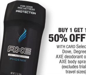 Axe deodorant