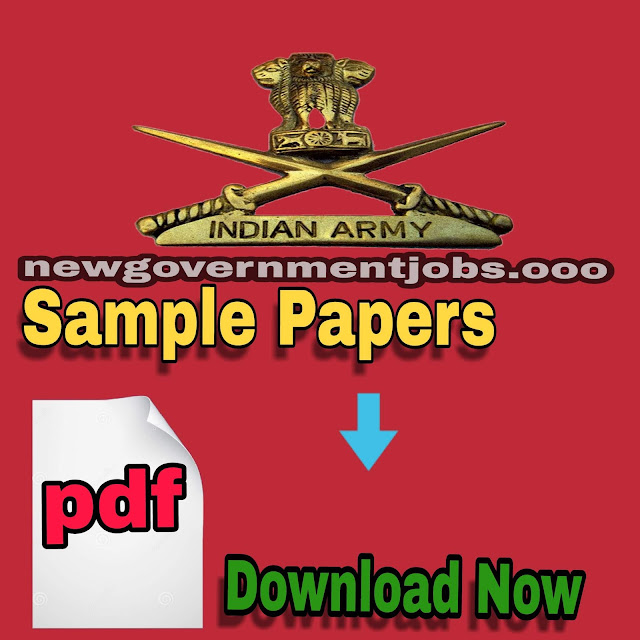 INDIAN ARMY SAMPLE PAPERS 2018