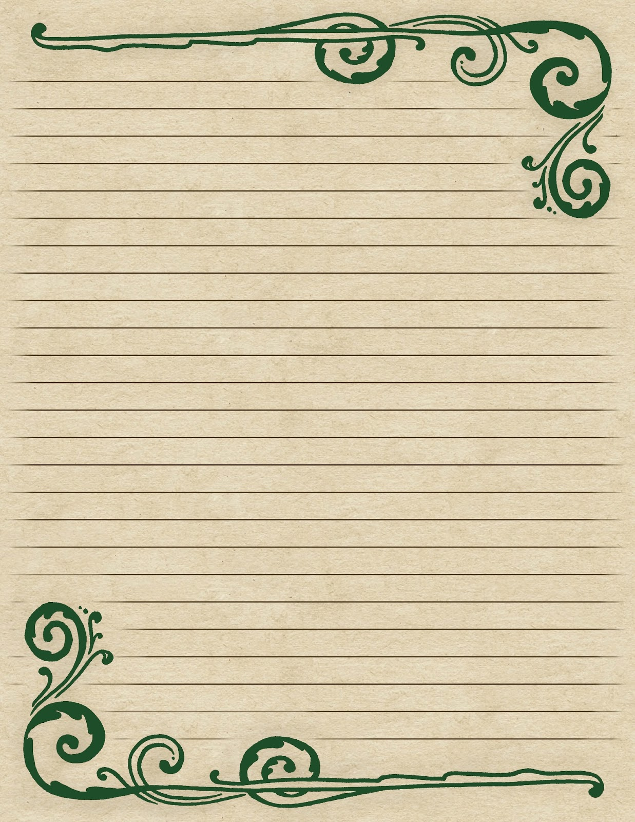 Decorative Writing Paper