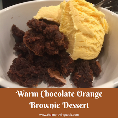 Warm Chocolate Orange Brownie Dessert