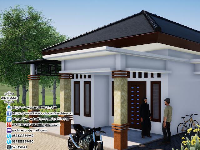 Renovasi Tampak Bangunan Minimalis - Sentuhan Atap Teras
