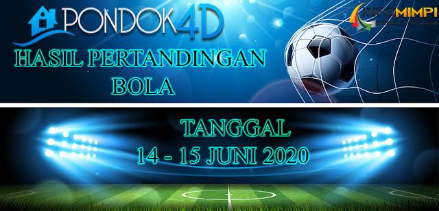 HASIL PERTANDINGAN BOLA 14 – 15 June 2020