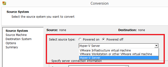 VMWare: Convertir vhdx en vmdk | SYSADMIT