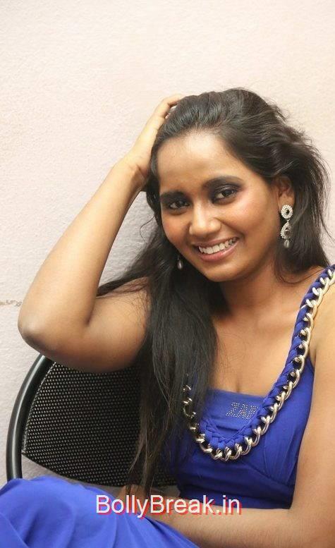 Telugu Actress Anusha, Anusha Hot Pics in Blue Dress