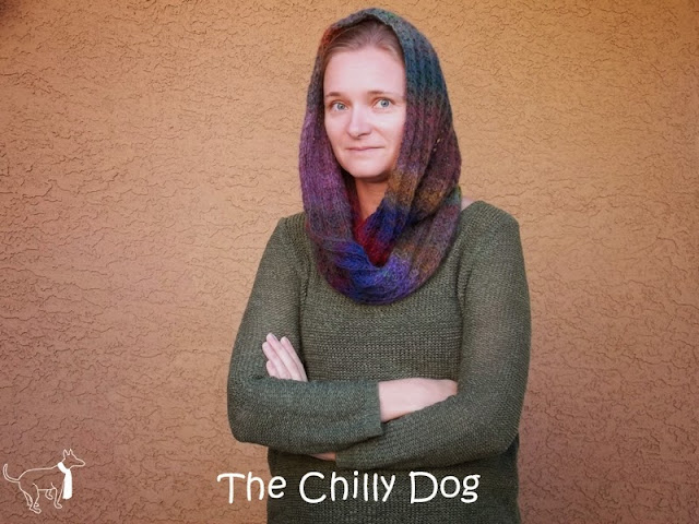 Wildflowers Knit Infinity Scarf Pattern: Three ways to wear an infiniy scarf