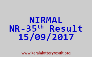 NIRMAL Lottery NR 35 Results 15-9-2017