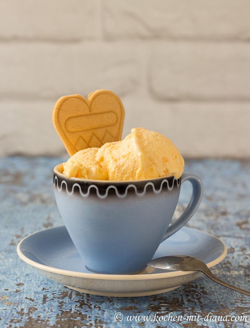 Zuckermelonen-Buttermilch-Eis
