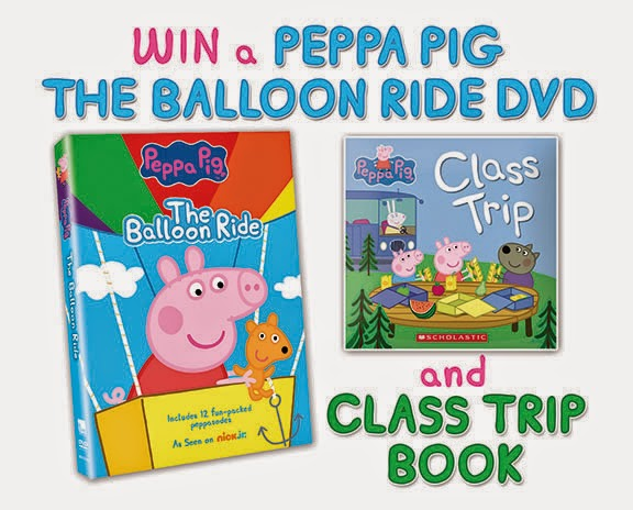 Enter the Peppa Pig: The Balloon Ride Giveaway. Ends 8/12.