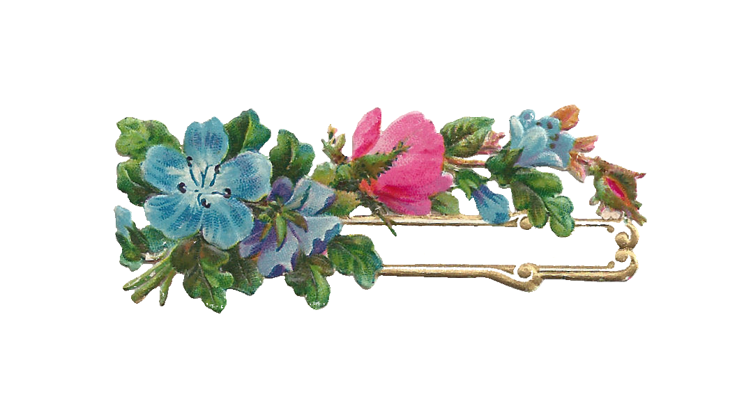 Antique Images Free Digital Flower Label Design