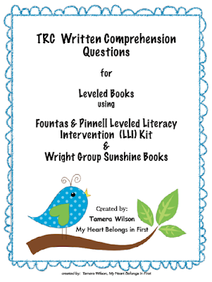https://www.teacherspayteachers.com/Product/TRC-Written-Comprehension-Questions-for-Fountas-Pinnell-Wright-Group-more-2464732