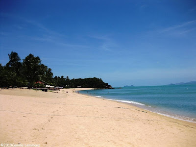 Beach at Wat Na Phalaan in Maenam