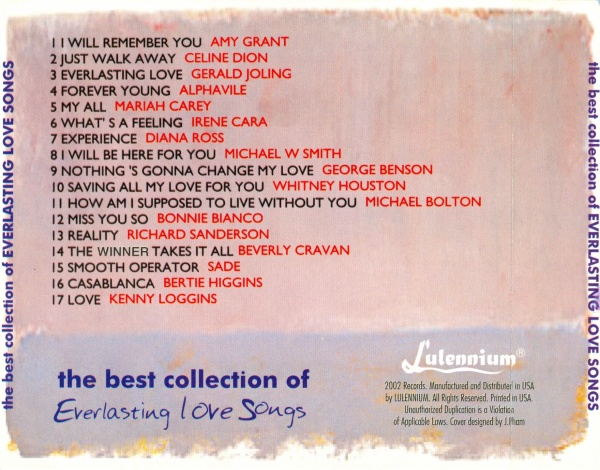 va the best collection of everlasting love songs vol 2 2002 lossless vi t nam. Black Bedroom Furniture Sets. Home Design Ideas