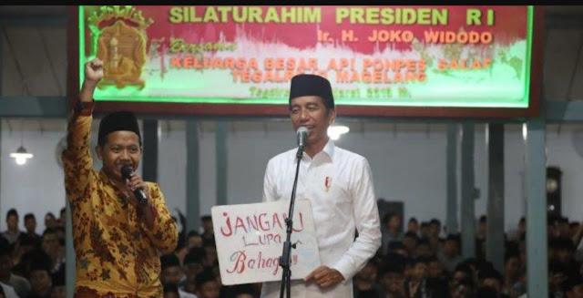 Santri API ke Presiden Jokowi: 'Berkat Njenengan Santri Diakui'