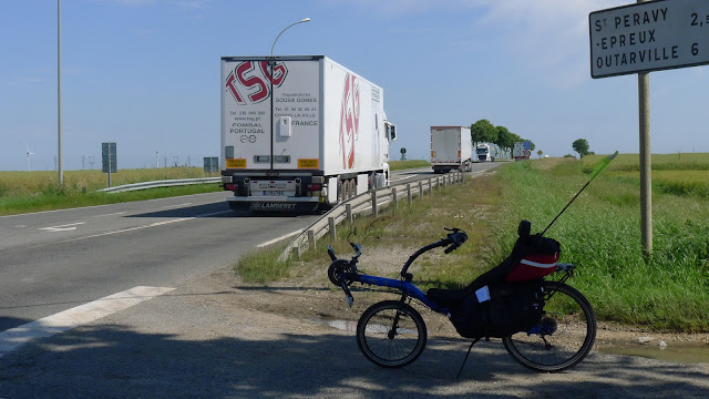 Tour de la Beauce en vélo couché  Passage de la N20