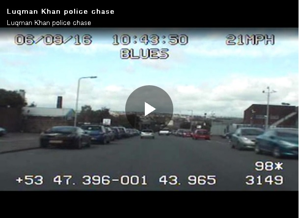VIDEO: Danger driver Luqman Khan led police on high-speed chase through Bradford from Bowling Back Lane