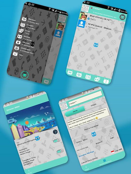 BBM Mod Cyanogen v2.7.0.23 Android