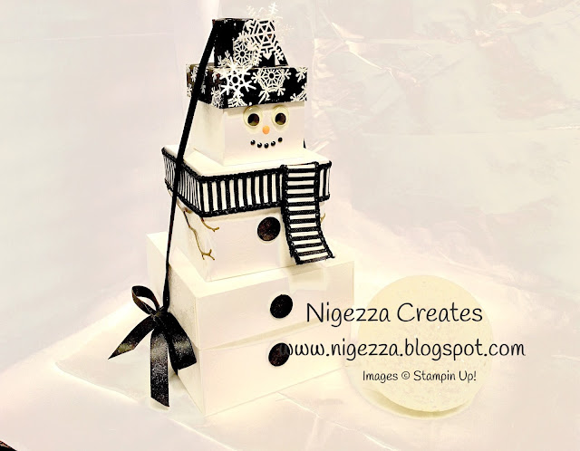 Snowman gift boxes Nigezza Creates