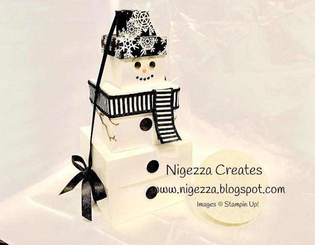 Snowman gift boxes Nigezza Creates