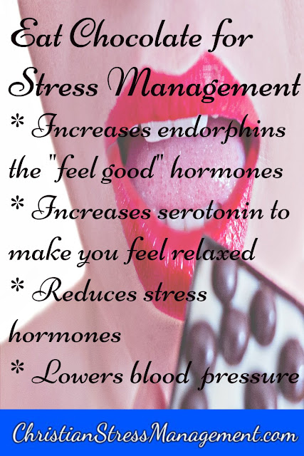 Chocolate for stress management