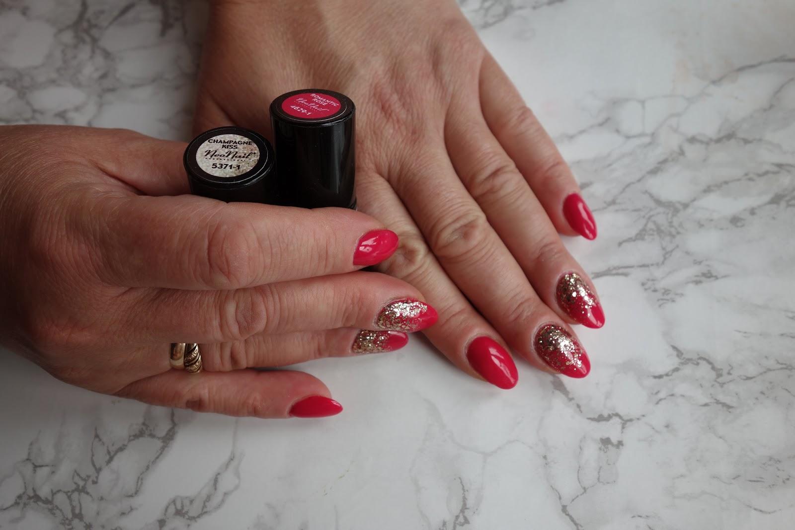 Neonail manicure hybrydowy - Romantic Rose & Champagne Kiss
