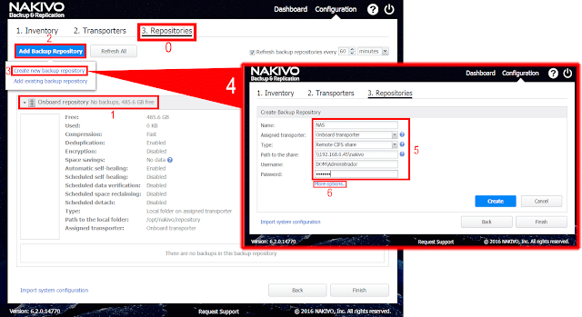 Nakivo Backup & Replication - Create backup repository.
