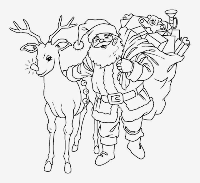 The Holiday Site: Santa Claus Coloring Pages