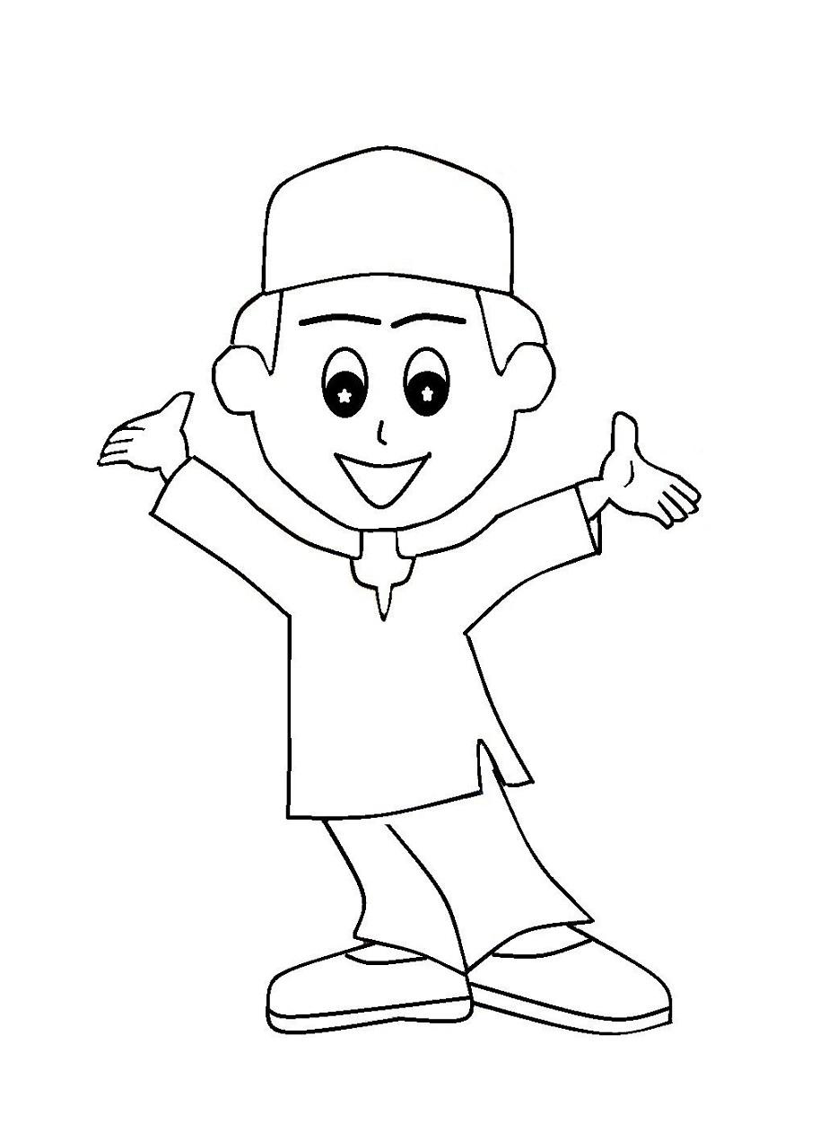 Foto Kartun Anak Sholehah