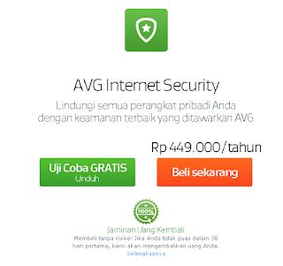 Harga dari AVG Antivirus