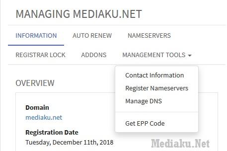 Kode EPP Transfer Domain