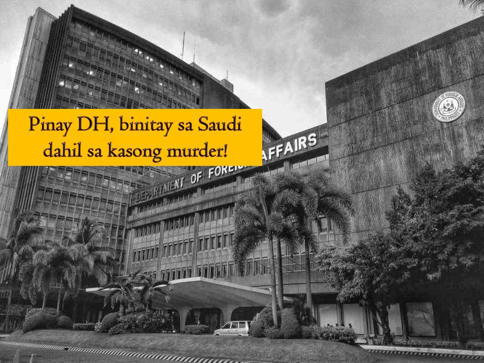 After being convicted of murder, a 39-years old Filipina domestic helper was executed in Saudi Arabia. Department of Foreign Affairs (DFA) confirms the said execution of Saudi authorities against the unnamed OFW who was found guilty of murder. Earlier the Saudi Supreme Judicial Council classified the case of an OFW as one in which blood money does not apply under Shariah Law.  Blood money is compensation under Shariah Law that is given to the family of murder victims. Should they accept it, the family will execute an affidavit of forgiveness so that the death penalty will not be carried out on the accused.  DFA regrets that it was not able to save the life of the Filipino workers in spite of the help being provided by the Philippine embassy. It said that the Filipina was provided with a lawyer to assist her in all stages of her trial, sent a representative to visit her and gave her family in the Philippines with regular updates about her case.  Also, representatives were sent to visit her while in jail in Saudi Arabia.  The family of the Filipina in the country has been informed of the sad news and they request to withhold the identity of the deceased for privacy.   The DFA has yet to issue information whether the remains of the executed Filipino from Saudi Arabia will be repatriated soon.   The foreign affairs department also extended its condolences to the family. The execution is the second in two years after the death of Jakatia Pawa in Kuwait in January 2017.