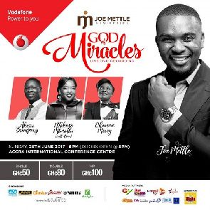 Joe Mettle to record his next live album at his Praiz Reloaded Concert, 25th June