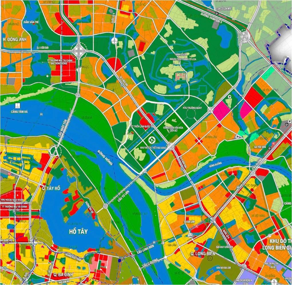 Bản đồ quy hoạch trung tâm triển lãm Đông Anh Hà Nội