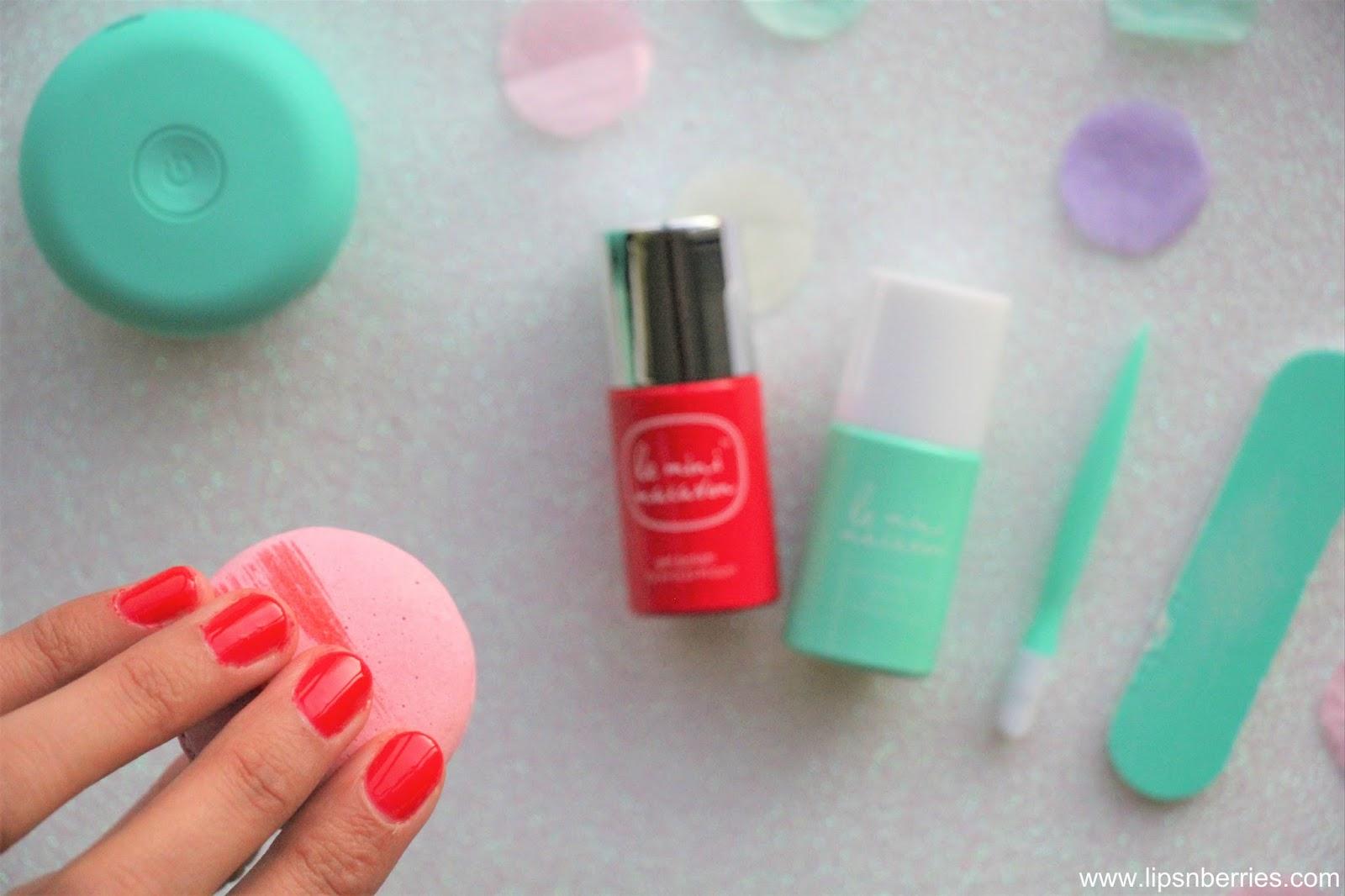 Lips n Berries!: Le Mini Macaron Gel Nail Manicure Kit Review