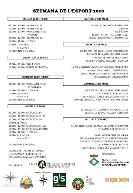 Esguard de Dona - Setmana de l'Esport 2018 a Sant Jaume dels Domenys