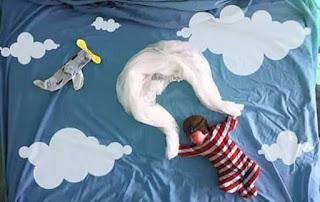 Ideas para fotos de bebés - paracaidas