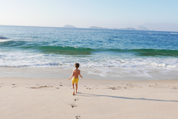 Brazil with kids - Ipanema beach