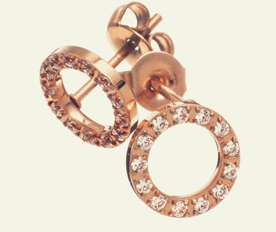 Christmas Gift Ideas For Your Mother In Law | Rose Gold mini studs are a perfect Christmas gift.