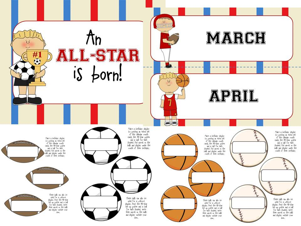 Classroom Ideas Printables ~ Diary of a not so wimpy teacher sports theme classroom