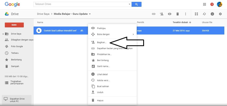 Menambahkan dan Menampilkan File Flash (SWF) di Blog Melalui Google Drive