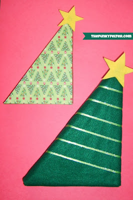 DIY Recycled Cereal Box Christmas Trees Tutorial
