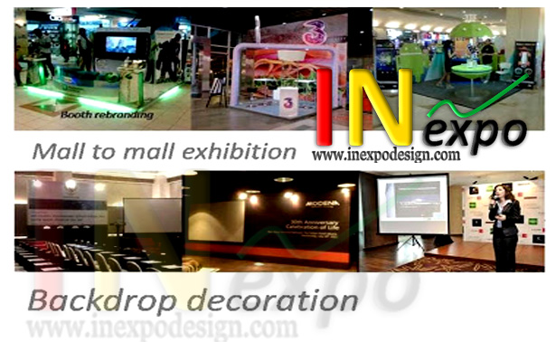 stand pameran backdrop event